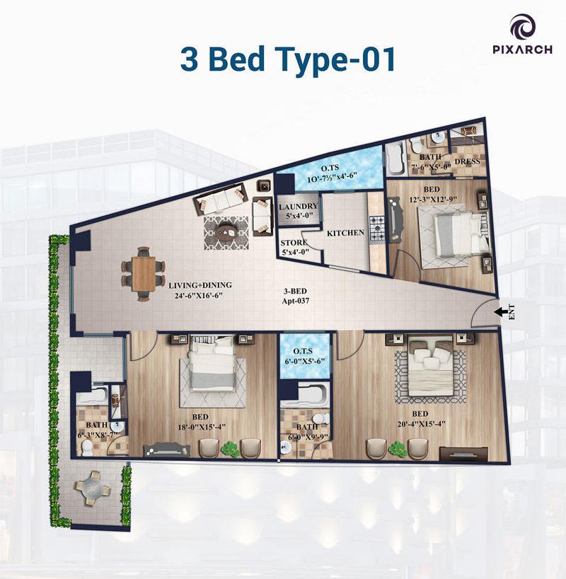 3-Bed-Apt-Type-01