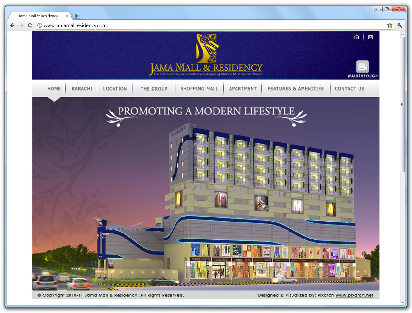 jama-mall-and-residency-website