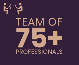 team of 75+ professionals