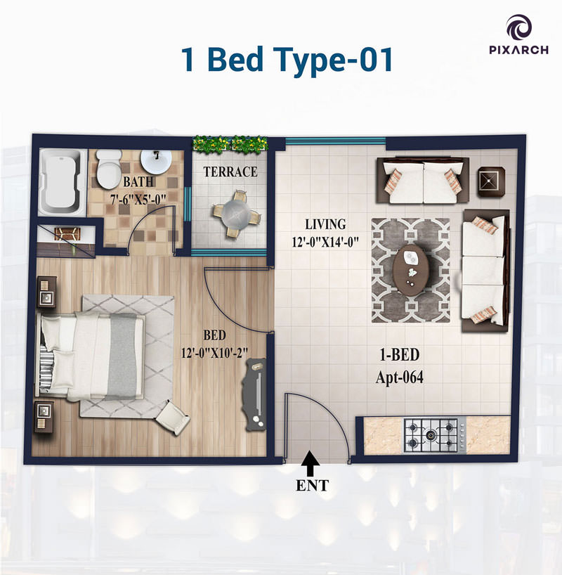1-Bed-Type-01