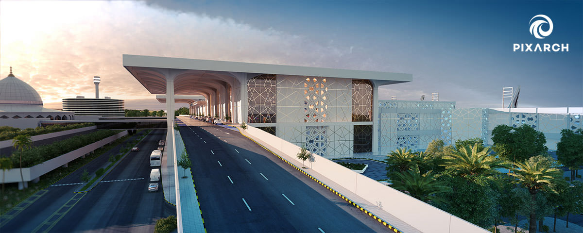 king fahad international airport road | Pixarch