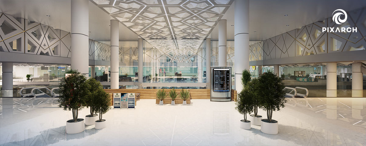 King Fahd International Airport photorealistic view