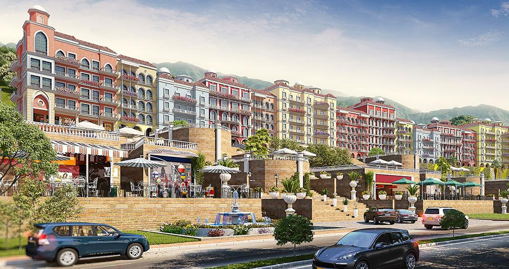 Commercial parkview 3d view | Pixarch