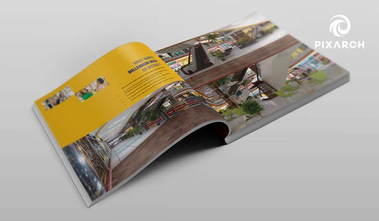 millennium mall 3d visual design   Pixarch
