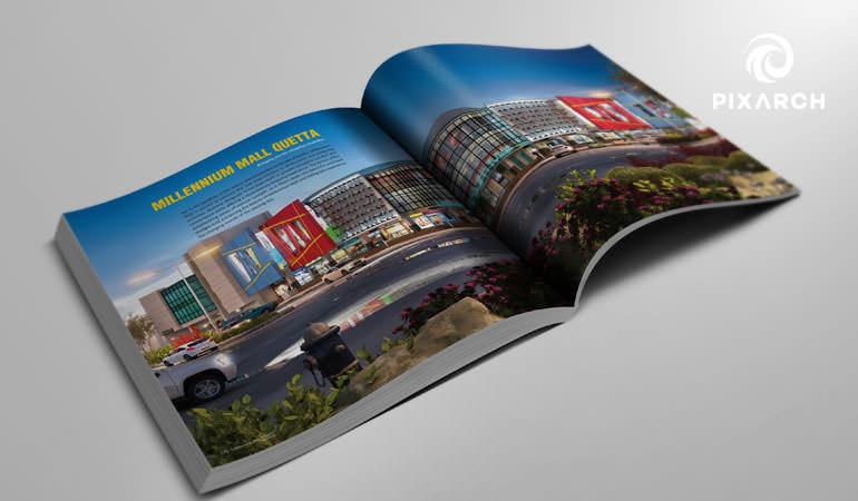 millennium mall 3d visual design