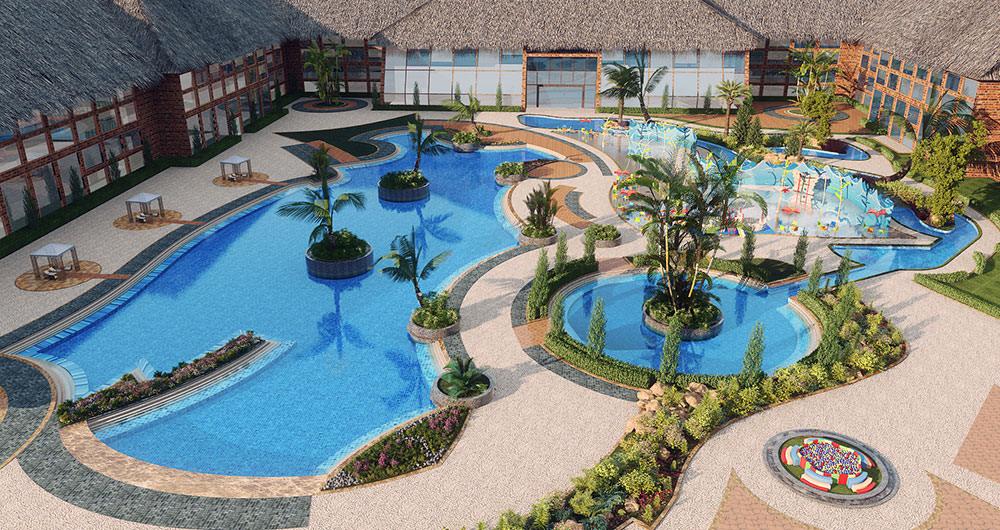dallas aquatic hotel 3d view | pixarch