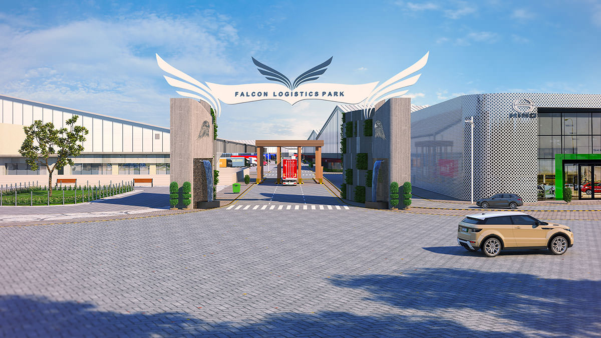 falcon logistics park 3d view | Pixarch