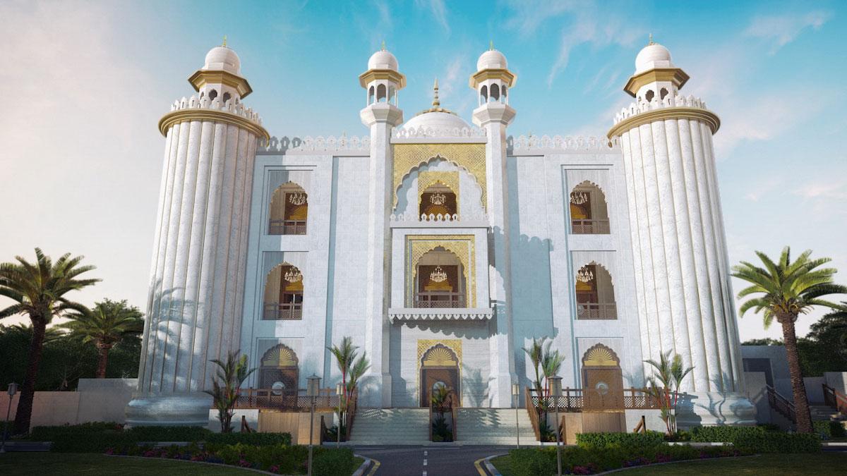 Masjid-e-taqwa 3d view   Pixarch