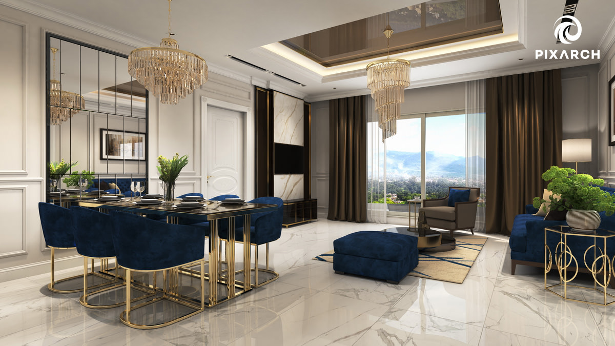 gulberg mall signature apartment 3d interior view
