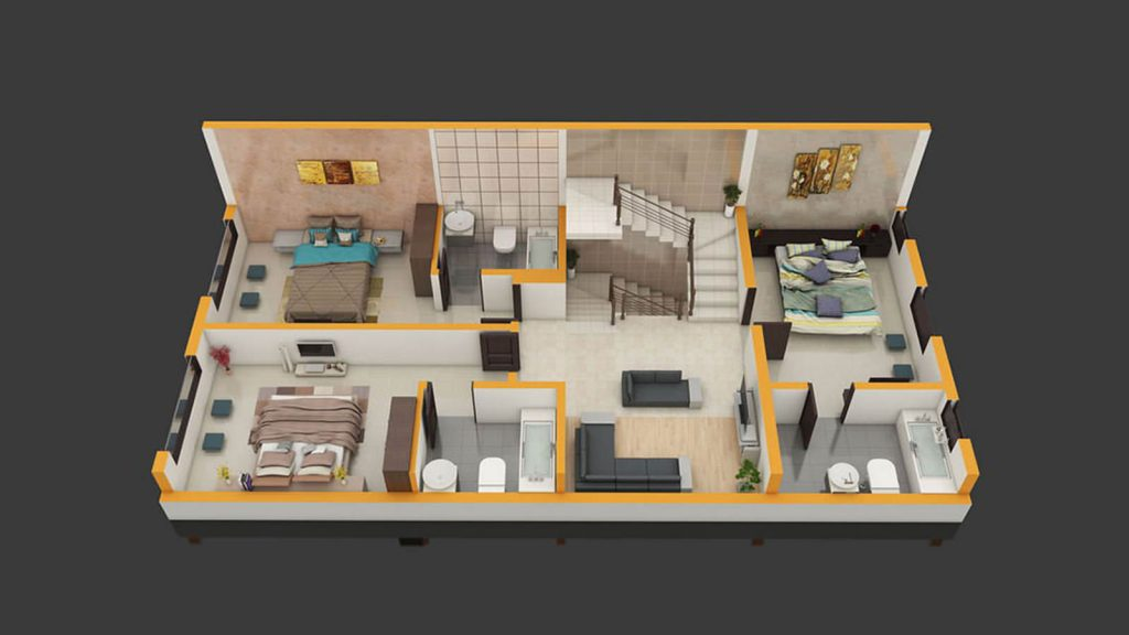 3d uplift floorplan
