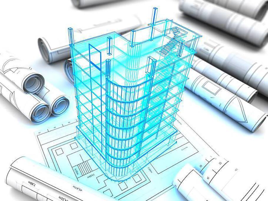 3d architect design of building