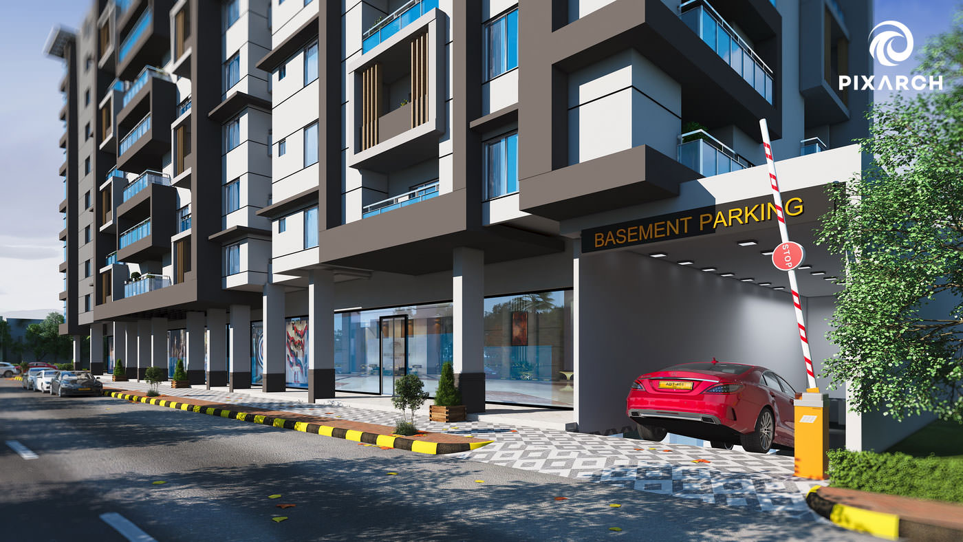 shayan grand city 3d exterior view