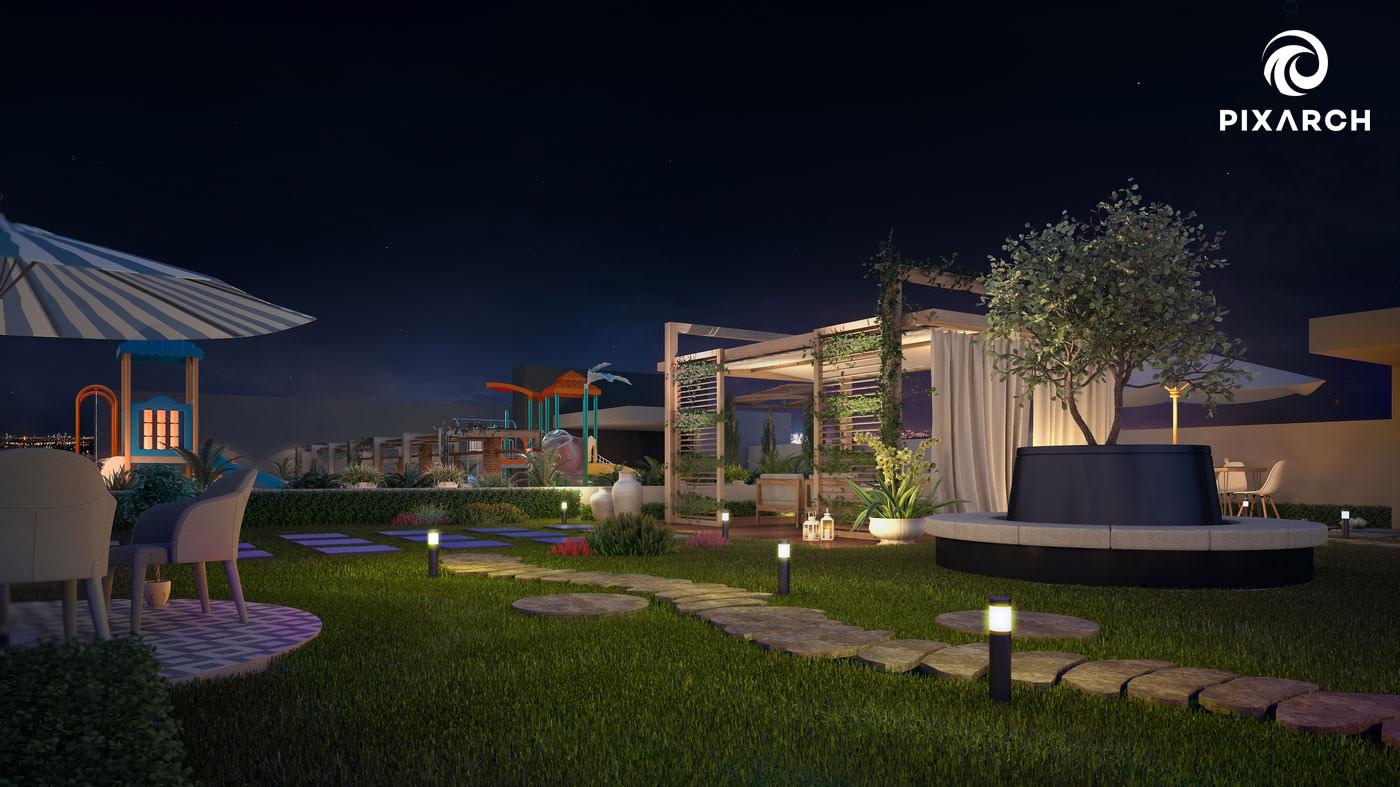 shayan grand city 3d garden view