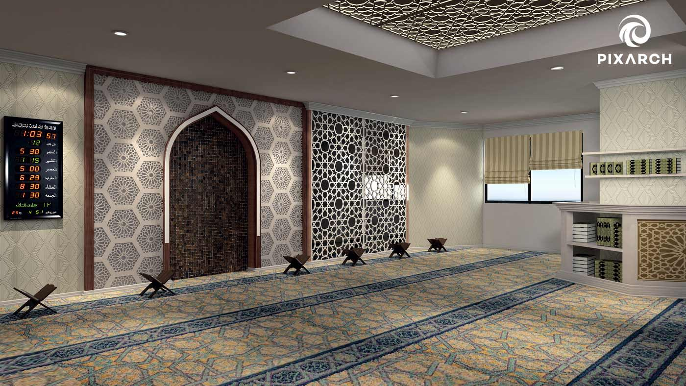 shayan grand city 3d mosque view