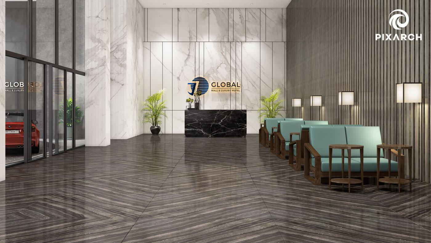 j7 global 3d reception view
