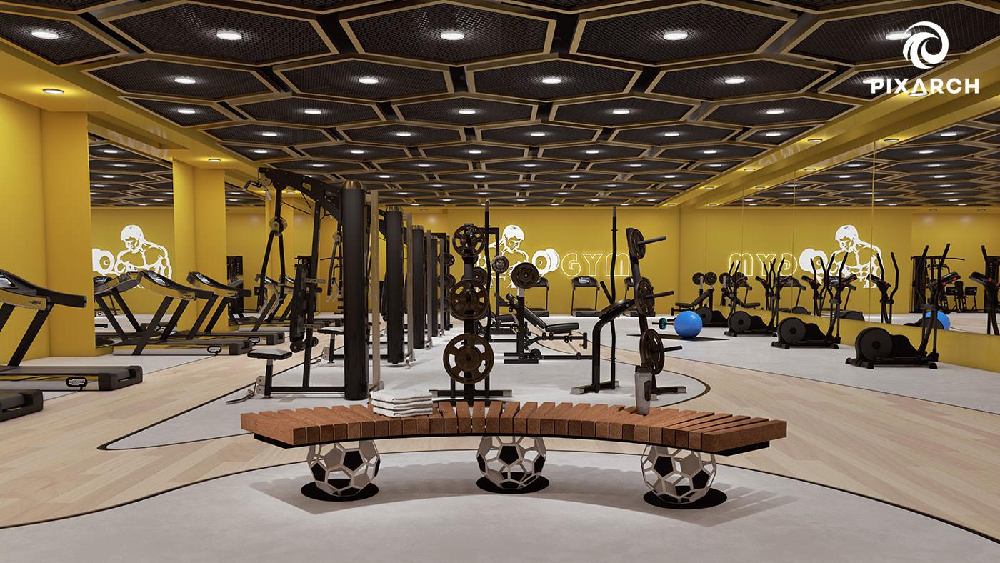 titan one 3d gym view