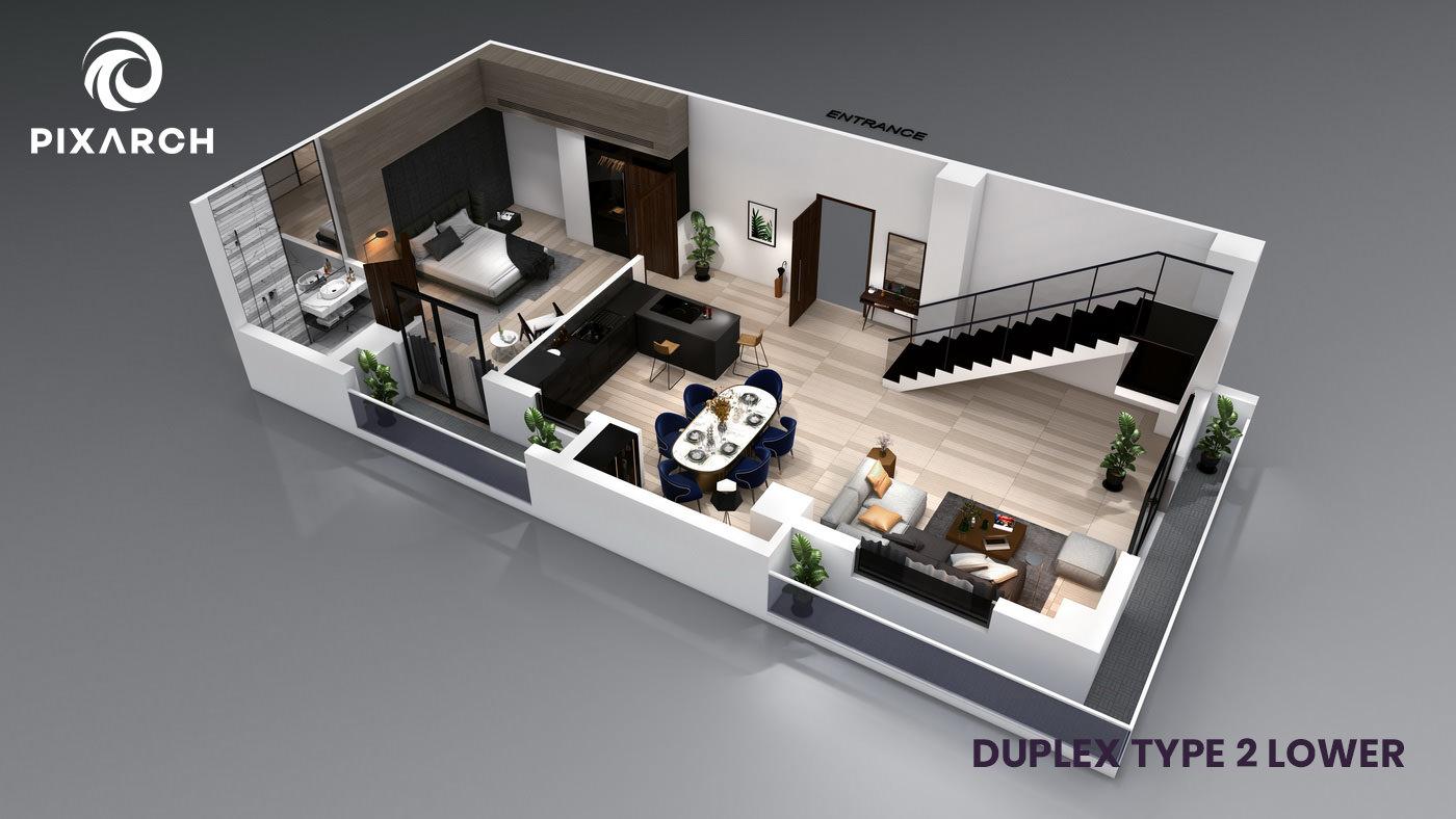 la-vista-world-duplex-type-2-lower
