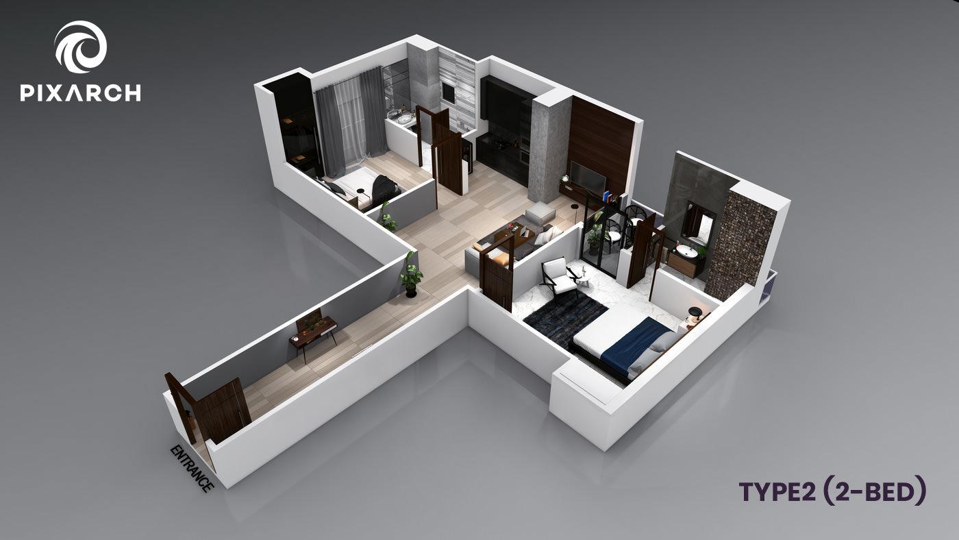 la-vista-world-type-2-2-bed