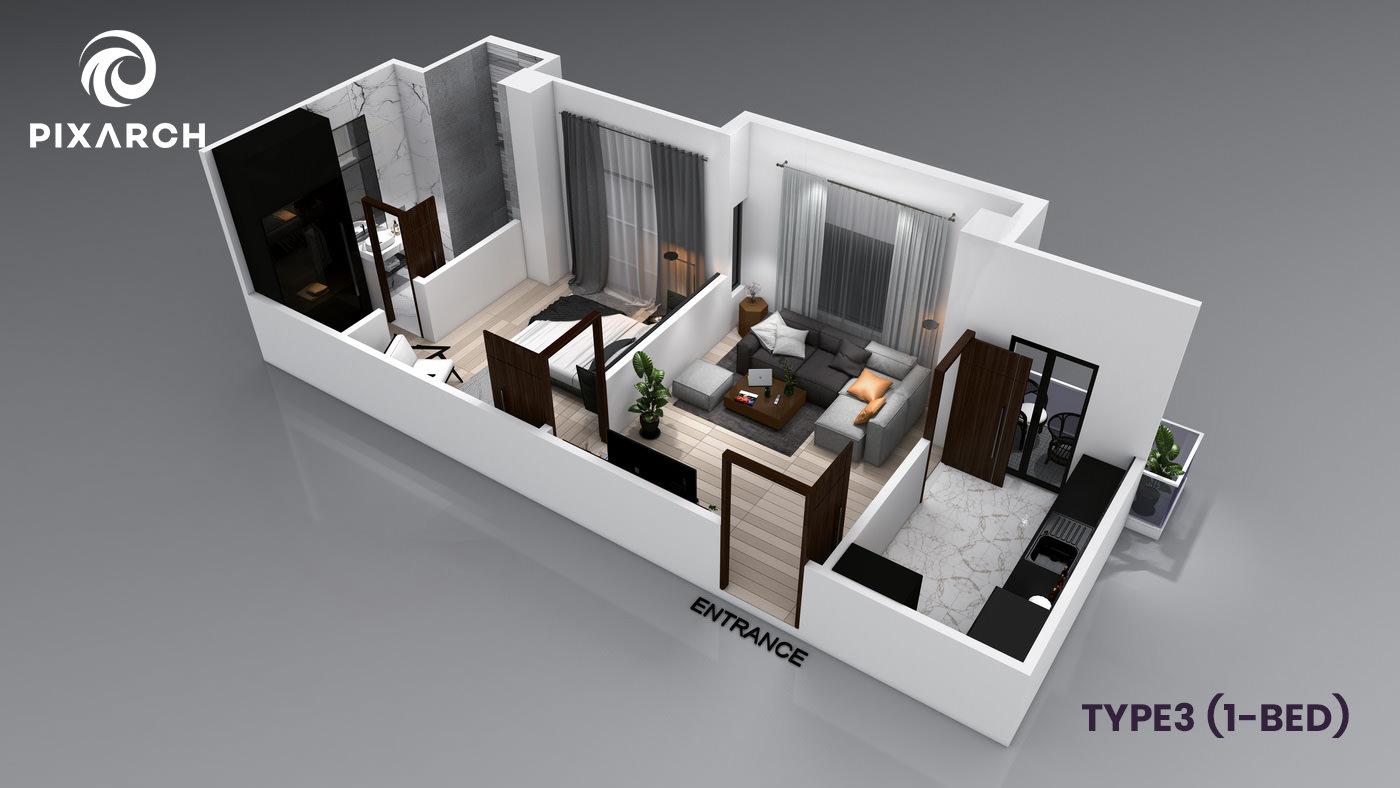 la-vista-world-type-3-1-bed